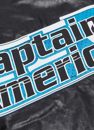 - FAITH CONNEXION - x Marvel 'Captain America' slogan graphic patch faux leather top