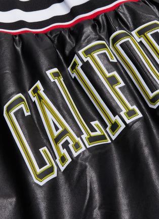 - FAITH CONNEXION - 'California' appliqué faux leather basketball shorts