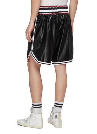 Back View - Click To Enlarge - FAITH CONNEXION - 'California' appliqué faux leather basketball shorts