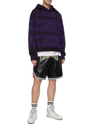 Figure View - Click To Enlarge - FAITH CONNEXION - 'California' appliqué faux leather basketball shorts