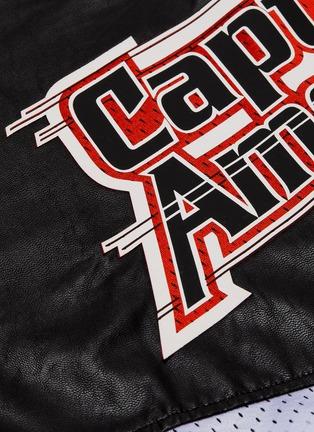 - FAITH CONNEXION - x Marvel 'Captain America' patch colourblock faux leather hoodie