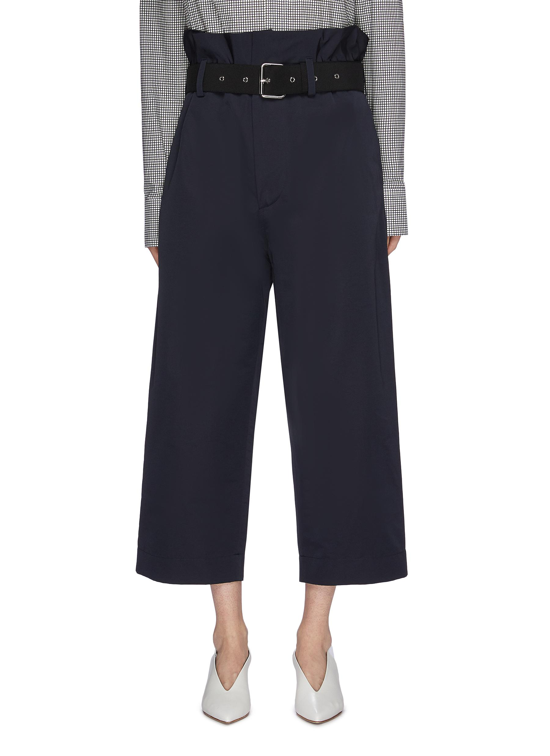 Belted paperbag pants by Plan C