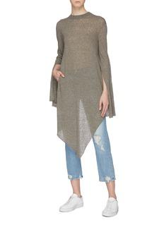 PORTSPURE Asymmetric drape sweater