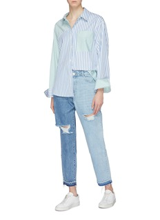 PORTSPURE Colourblocked ripped jeans