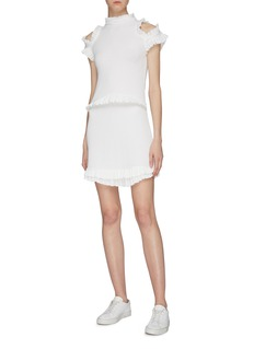 Maggie Marilyn 'Dreaming of You' ruffle cold shoulder mini dress