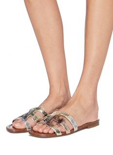 Sam Edelman 'Bay' metallic leather slide sandals