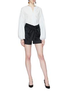Silvia Tcherassi 'Alcondera' balloon sleeve button back V-neck blouse