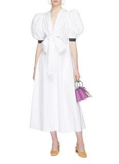 Silvia Tcherassi 'Miosotis' bow front puff sleeve dress