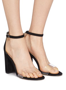 Sam Edelman 'Yaro' PVC band ankle strap suede sandals