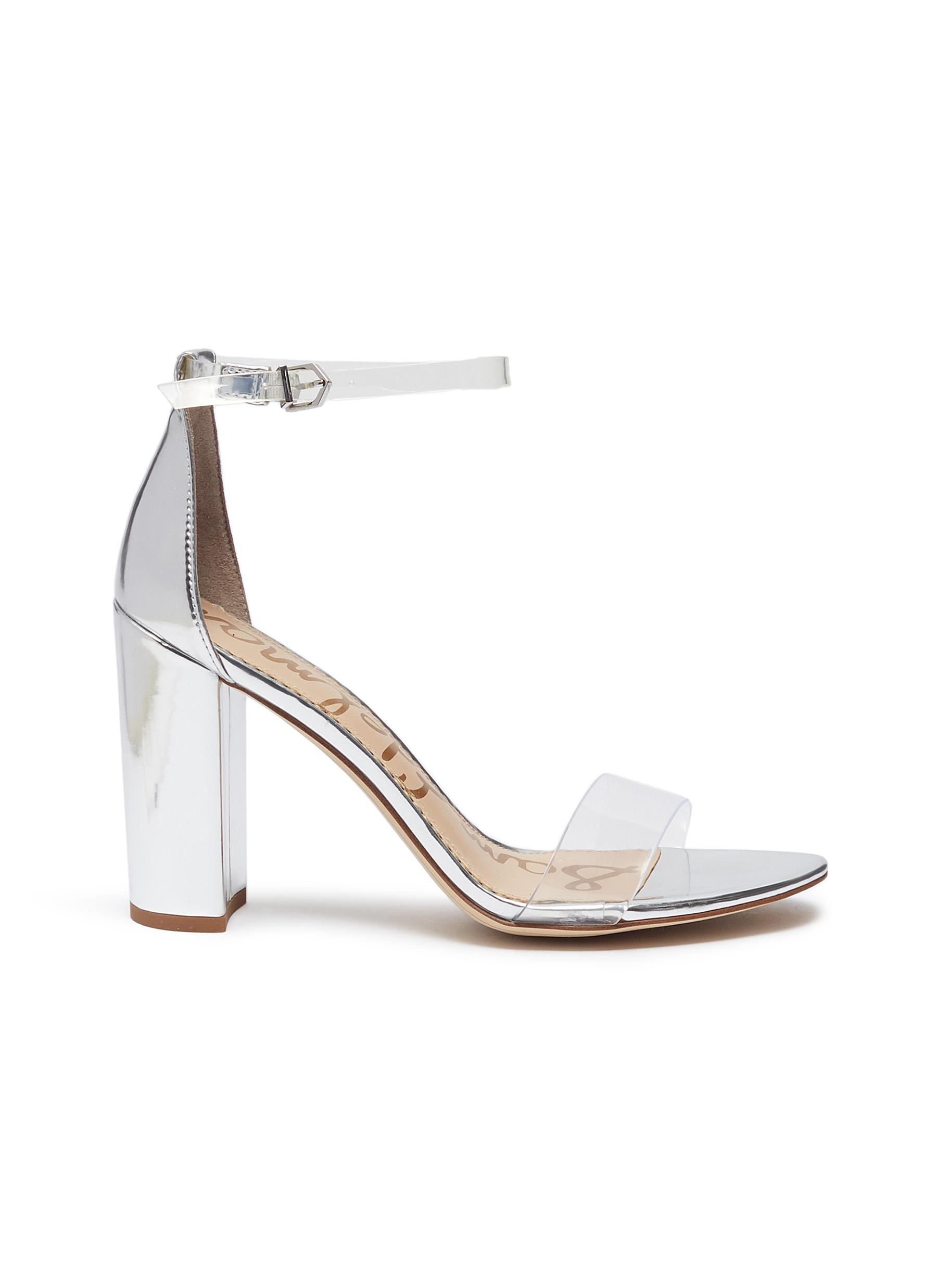 b29fdae85360 Sam Edelman.  Yaro  PVC strap mirror leather sandals