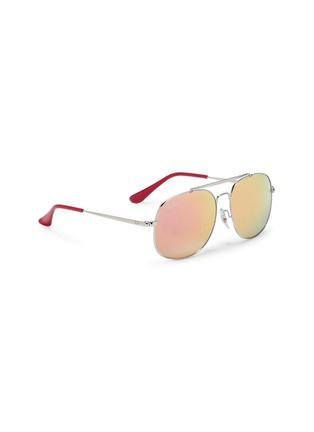 Figure View - Click To Enlarge - Ray-Ban - 'RJ9561' mirror metal aviator junior sunglasses