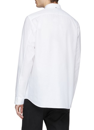 Back View - Click To Enlarge - OAMC - Logo tag chest pocket Oxford shirt
