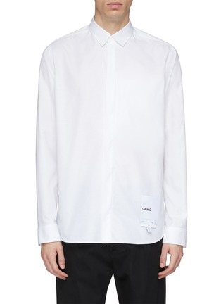 Main View - Click To Enlarge - OAMC - Logo tag chest pocket Oxford shirt