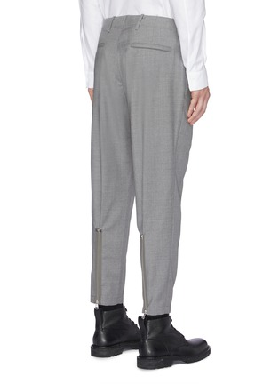 Back View - Click To Enlarge - OAMC - Zip cuff cropped virgin wool hopsack pants