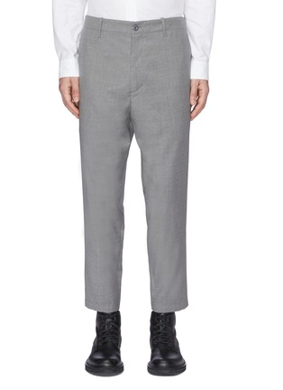 Main View - Click To Enlarge - OAMC - Zip cuff cropped virgin wool hopsack pants
