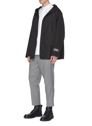 Figure View - Click To Enlarge - OAMC - Zip cuff cropped virgin wool hopsack pants