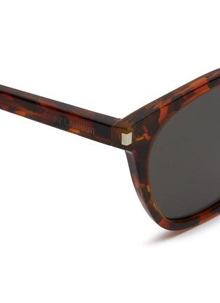 Detail View - Click To Enlarge - SAINT LAURENT - 'Classic 28' tortoiseshell acetate square sunglasses