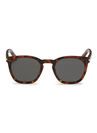 Main View - Click To Enlarge - SAINT LAURENT - 'Classic 28' tortoiseshell acetate square sunglasses