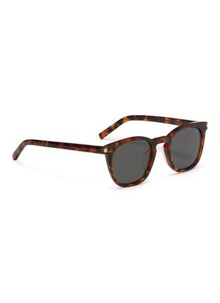 Figure View - Click To Enlarge - SAINT LAURENT - 'Classic 28' tortoiseshell acetate square sunglasses