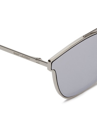 Detail View - Click To Enlarge - SAINT LAURENT - 'Classic 28' mirror metal square sunglasses