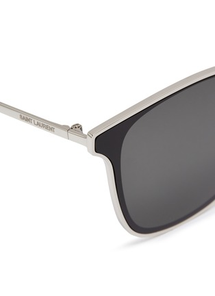 Detail View - Click To Enlarge - SAINT LAURENT - Metal frame square sunglasses