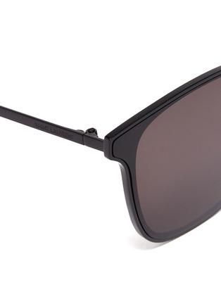 Detail View - Click To Enlarge - SAINT LAURENT - Metal frame square sunglasses