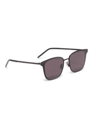 Figure View - Click To Enlarge - SAINT LAURENT - Metal frame square sunglasses