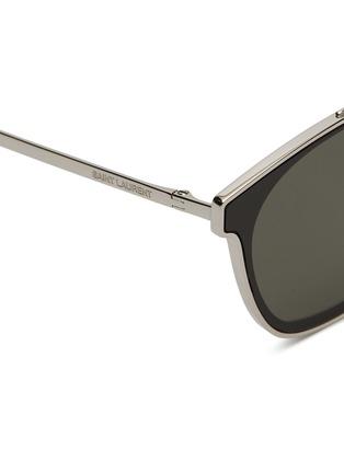 Detail View - Click To Enlarge - SAINT LAURENT - 'Classic 28' metal square sunglasses