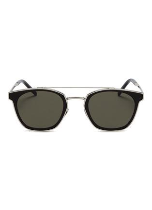 Main View - Click To Enlarge - SAINT LAURENT - 'Classic 28' metal square sunglasses