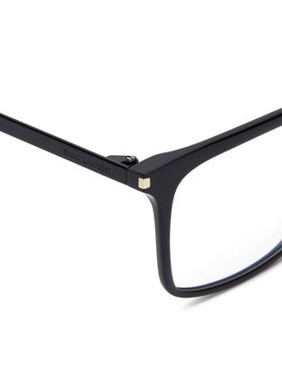 Detail View - Click To Enlarge - SAINT LAURENT - Metal temple acetate square optical glasses