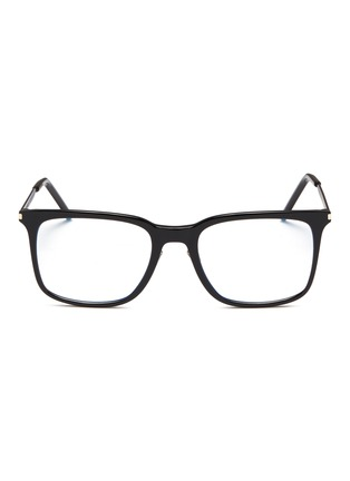 Main View - Click To Enlarge - SAINT LAURENT - Metal temple acetate square optical glasses