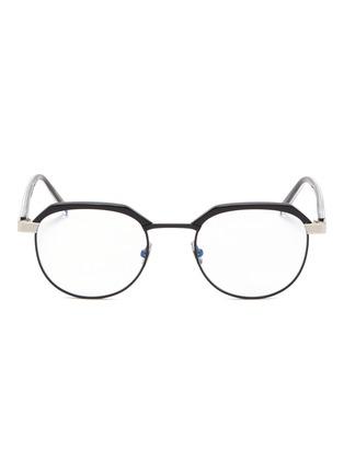 Main View - Click To Enlarge - SAINT LAURENT - Metal rim acetate round optical glasses