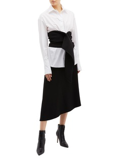 Maticevski 'Faithful' detachable cummerbund pleated sleeve oversized shirt