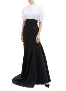 Maticevski 'Aficionado' ruffle drape cady evening skirt