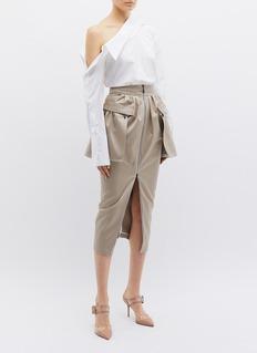 Maticevski 'Valiant' zip peplum panel skirt