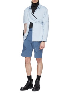 The World Is Your Oyster Belted mix pocket shorts