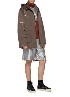 Oakley by Samuel Ross Logo print strap metallic shorts