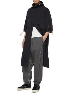 Oakley by Samuel Ross Reversible detachable hood short sleeve coat