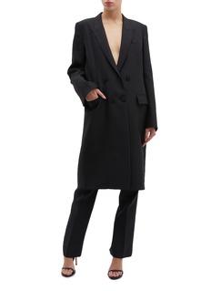 Thomas Puttick Peaked lapel split cuff coat