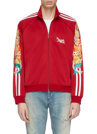 Main View - Click To Enlarge - doublet - 'Chaos' embroidered stripe sleeve track jacket