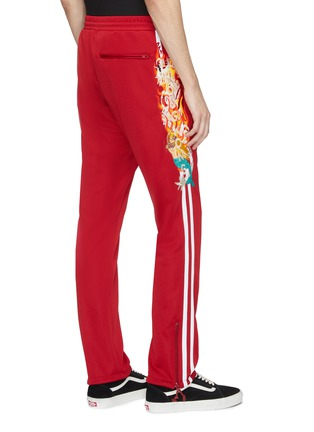 Back View - Click To Enlarge - doublet - 'Chaos' embroidered stripe outseam track pants