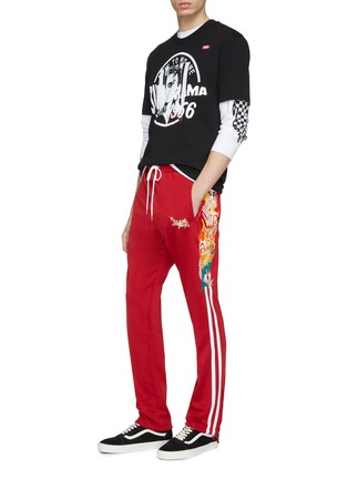 Figure View - Click To Enlarge - doublet - 'Chaos' embroidered stripe outseam track pants