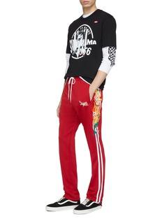 doublet 'Chaos' embroidered stripe outseam track pants
