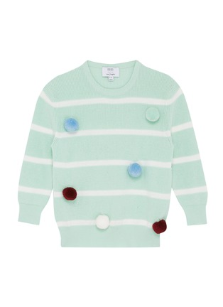 Main View - Click To Enlarge - PH5 - Pompom appliqué stripe sweater