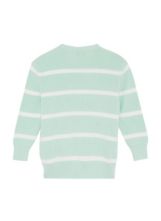 Figure View - Click To Enlarge - PH5 - Pompom appliqué stripe sweater