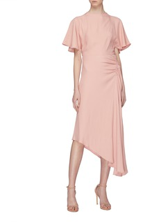 Les Héroïnes 'The J.K' asymmetric ruched drape skirt