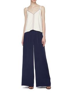 Les Héroïnes 'The Mammie' bow tie shoulder contrast border camisole top