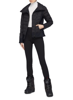 Goldbergh 'Veloce' faux leather shoulder down puffer ski jacket