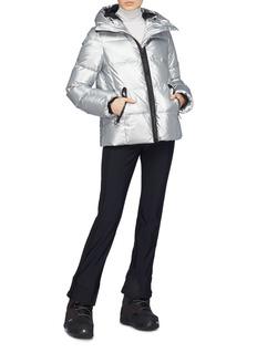 Goldbergh 'Nuvola' hooded metallic down puffer ski jacket