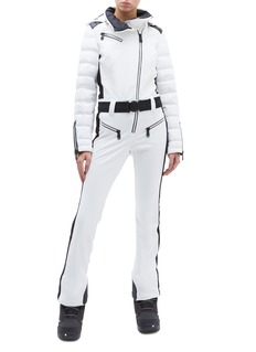 Goldbergh 'Flame' belted hooded PrimaLoft® down ski jumpsuit